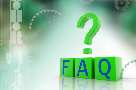 Frequently Asked Questions symbol isolated on white background Stock Photo - 9597599