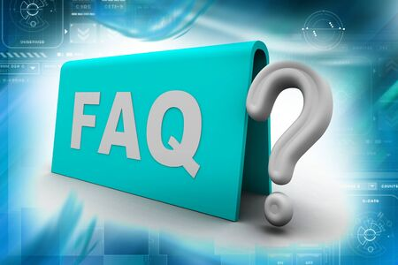 dubious: Highly rendering of faq in white background