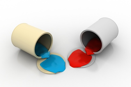 Spilled can of paint Stock Photo - 9597495