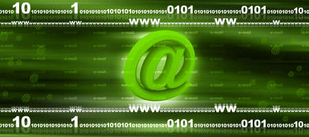 electronically: Email concept   Stock Photo