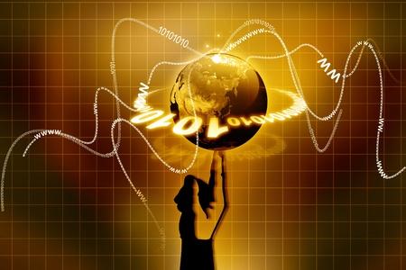 finger tip: Planet Earth Balanced Finger Tip, Hand Holding Globe