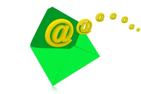 email icon coming out of open envelope Stock Photo - 9746319