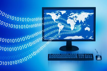 Global Computer Network in abstract  background   Stock Photo