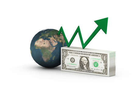 positivist: Dollar with  graph  showing  profit s  Stock Photo