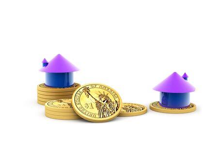 House and money isolated background Stock Photo - 9750884