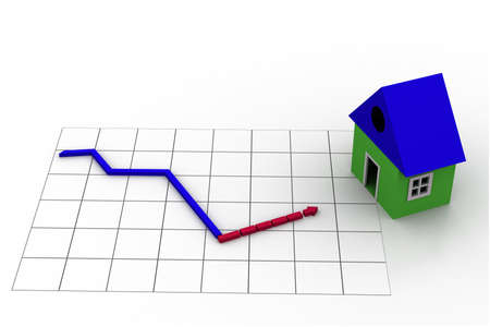 Housing market graph Stock Photo - 9750908
