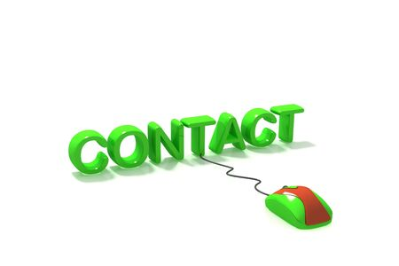 get in touch: contact online  Stock Photo