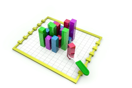 totals: Business Charts and Graphs  Stock Photo