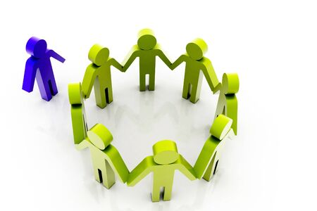 exclusion: Community Stock Photo