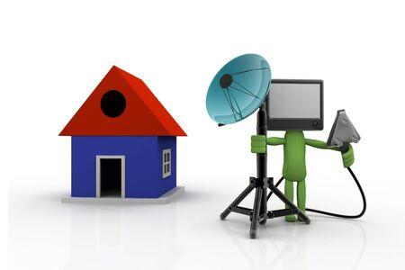 Home TV concept Stock Photo - 9756753