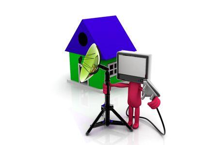 Home TV concept  photo