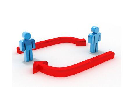 exchanging: Communication Stock Photo