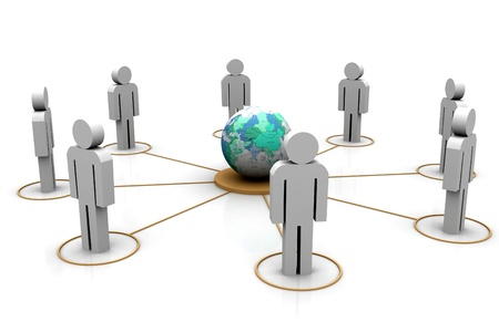 co operation: People Network Global Stock Photo