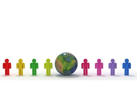 co operation: Global Teamwork  Stock Photo