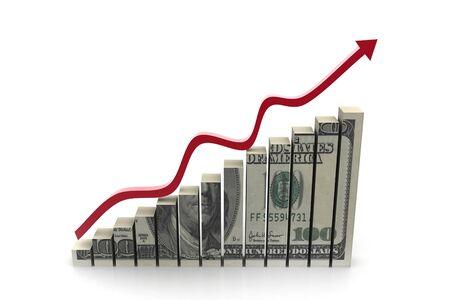 earn: D�lar con gr�fico que muestra el beneficio