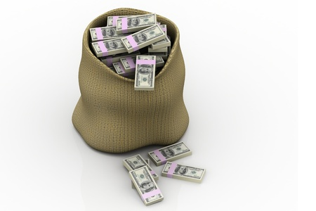 dollar bag: Money Bag Stock Photo