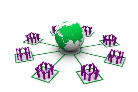 global partnership: Global Partnership Stock Photo