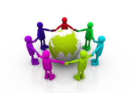 World friendship Stock Photo - 9770843