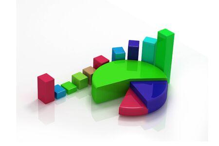 3D pie chart Stock Photo - 9770815