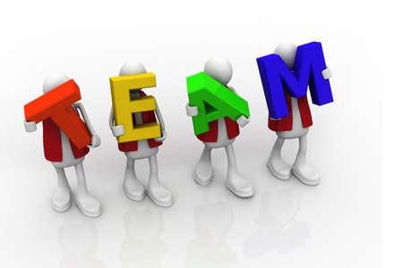 The team word Stock Photo - 9770862