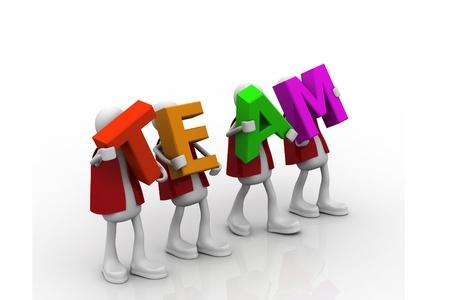 The team word Foto de archivo