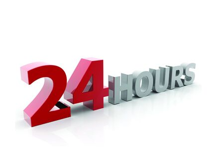 hrs: 12 Hours Sign Stock Photo