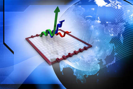 time sharing: Markets up  Stock Photo