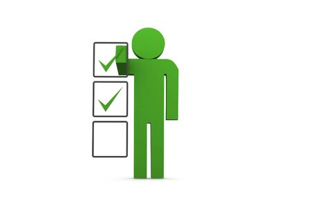 Stick Figure with Checklist photo