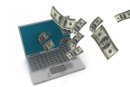 Internet Money Foto de archivo