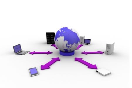 databank: Global Communication  Stock Photo