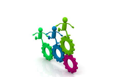 co action: Teamwork Concept