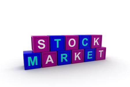 Stock market text Stock Photo - 9775920