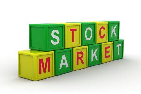 Stock market text Stock Photo - 9775987