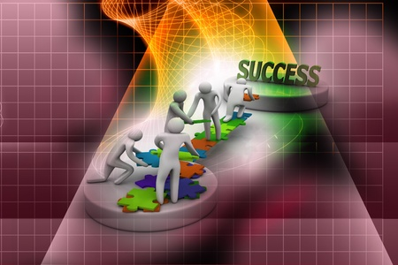 Team work in abstract background Stock Photo - 9776173