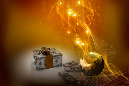 christmas debt: Money Gift in abstract background  Stock Photo
