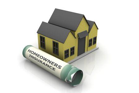 homeowners insurance: Homeowners Insurance  Stock Photo