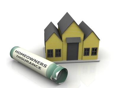 homeowners: Homeowners Insurance  Stock Photo