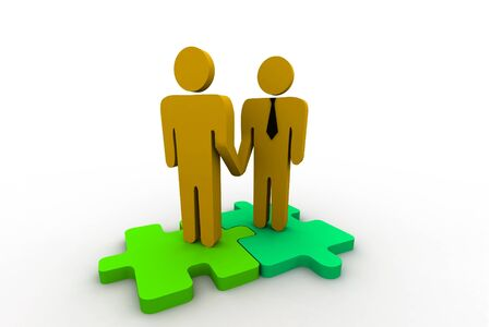 co operation: Business Handshake Stock Photo