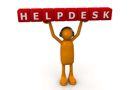 telephonist: Helpdesk Support Stock Photo