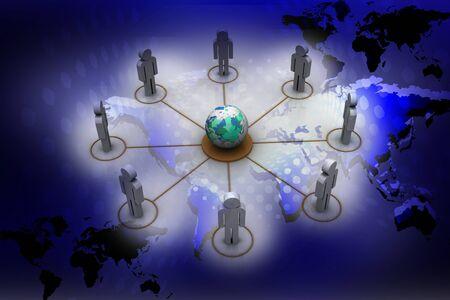 抽象的な背景の人々 ネットワーク グローバル 写真素材