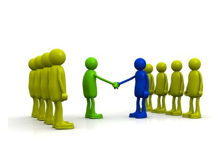 co operation: Business Agreement Stock Photo
