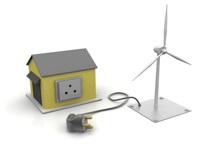 stately: Home ready for wind power  Stock Photo