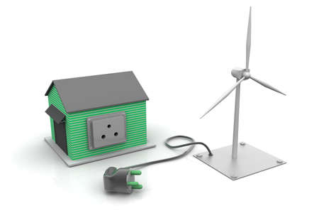 Home ready for wind power Stock Photo - 9776266