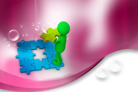 Building Puzzle in abstract background   photo