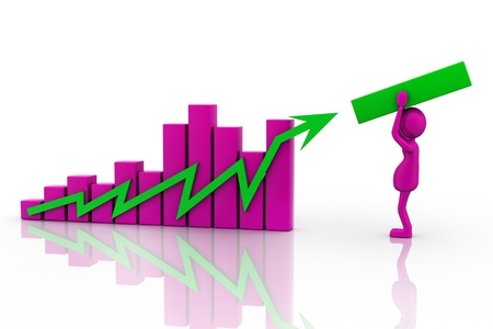 positivist: Growth Chart  in isolated background