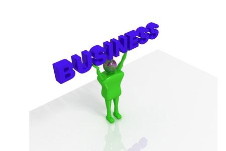 regress: Man holding business