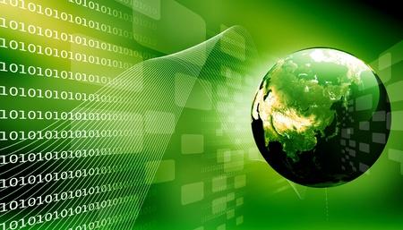 Concept van digitale aarde Stockfoto - 9823352