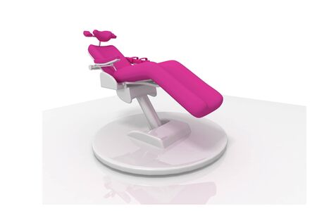 Digital illustration of dental chair in isolated  background  illustration