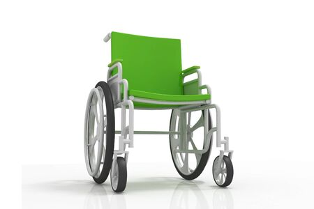 Digital illustration of Wheelchair in isolated  background Digital illustration of Wheelchair in isolated  background  illustration
