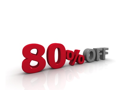 Eighty Percent Off Stock Photo - 9953774